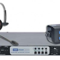 Audio intercom matrix with beltpacks and accessories