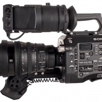 Sony FS7 with kit lens