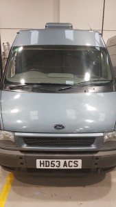 Ford Transit based compact OB vehicle, with Megahertz designed/installed interior