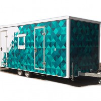 HDTV OB trailer with place for up to 8x cameras and 2x EVS