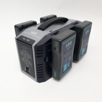 4-way Fast battery Charger kit with batteries and peli case