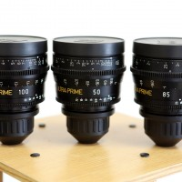 PL mount lenses set : 50,85 and 100mm