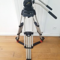 Heavy tripod head + silver legs + ground spreader