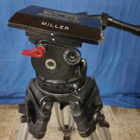 Miller  heavy duty 150 mm bowl size head tripod with very tall legs and spreader. - Image #4