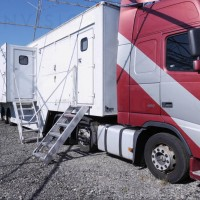 13.6m Single Expanding side Outside Broadcast Trailer