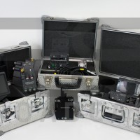 Speed control box, In camera slate kit, Lens data display box and Remote control station.