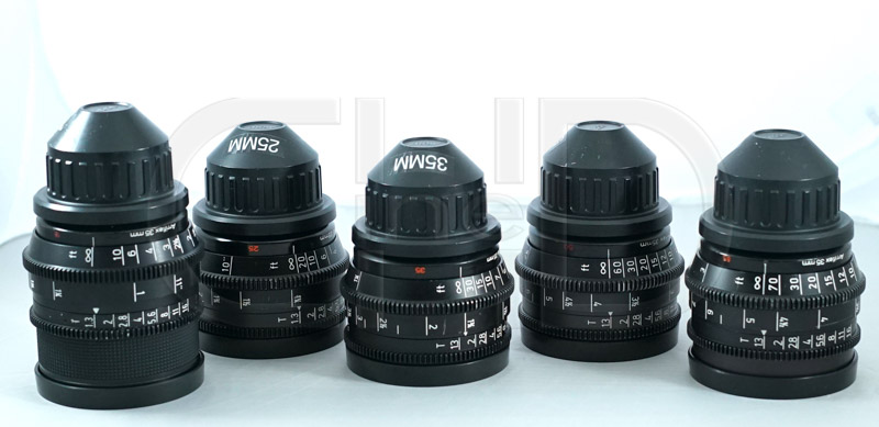 PL mount prime lens set