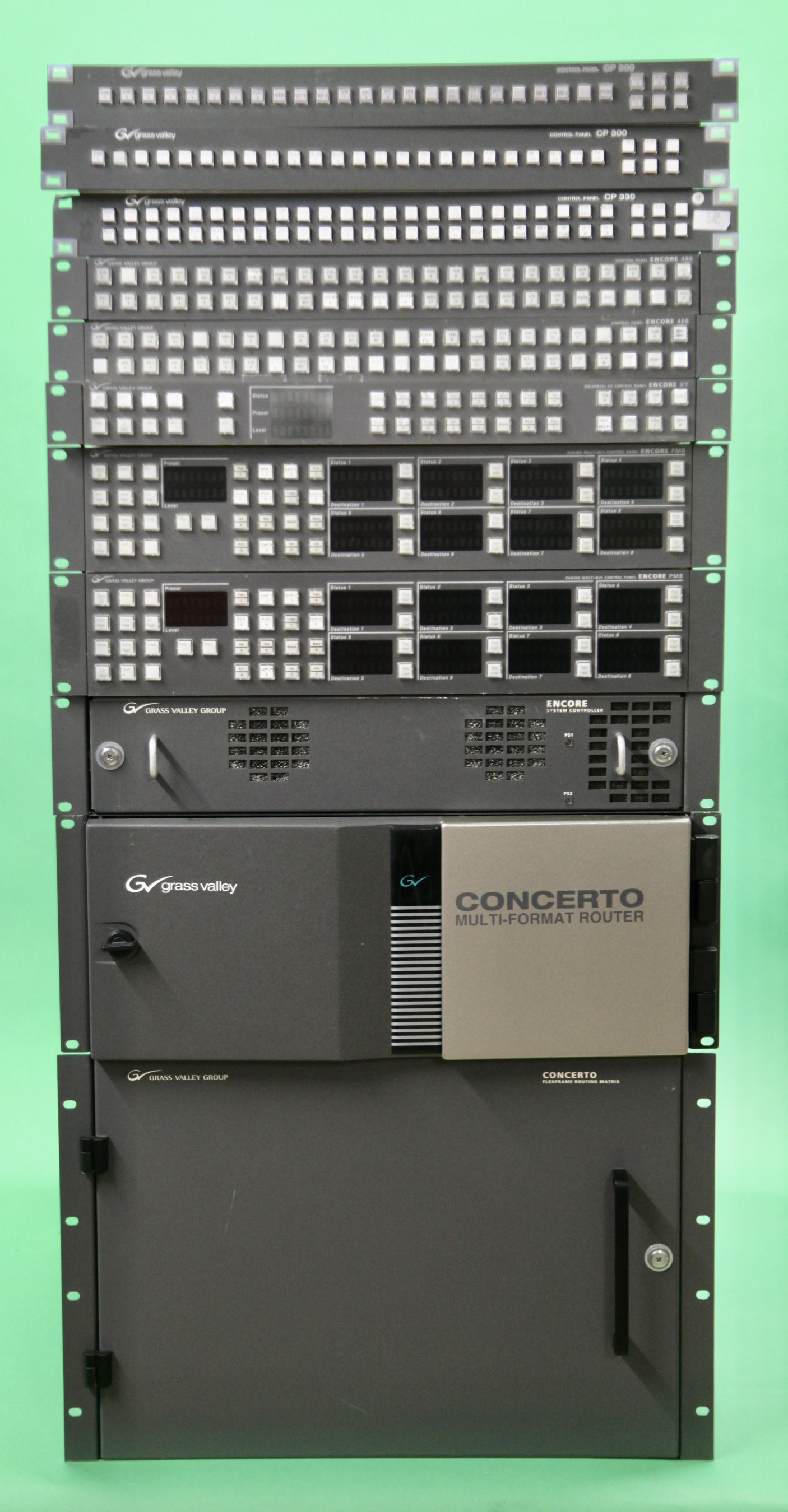 Grass Valley Concerto Router incl. Encore controller and panels - Image #1