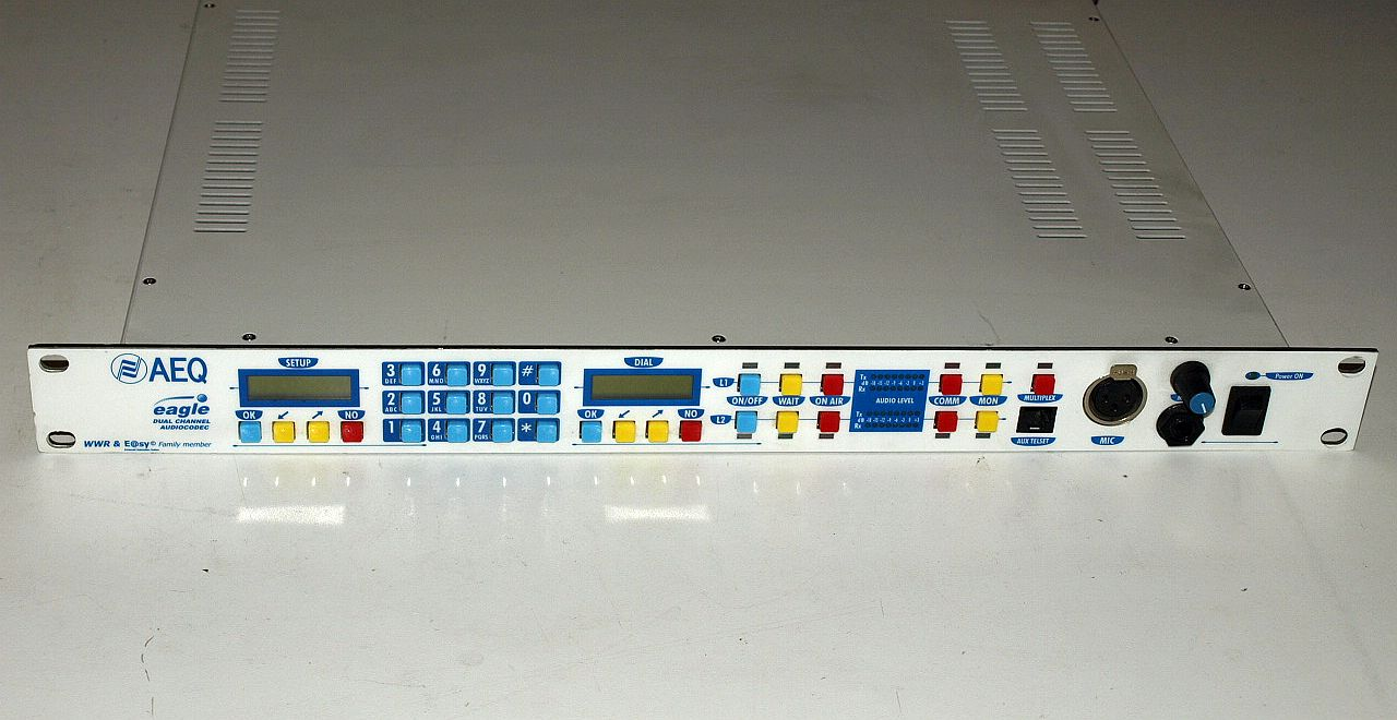 AEQ Eagle MPAC-02 multi-format dual-channel ISDN commentary audio codec - Image #1