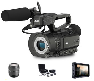 JVC JVC GY-LS300CHE Kit with LENS & NINJA INFERNO  - Image #1
