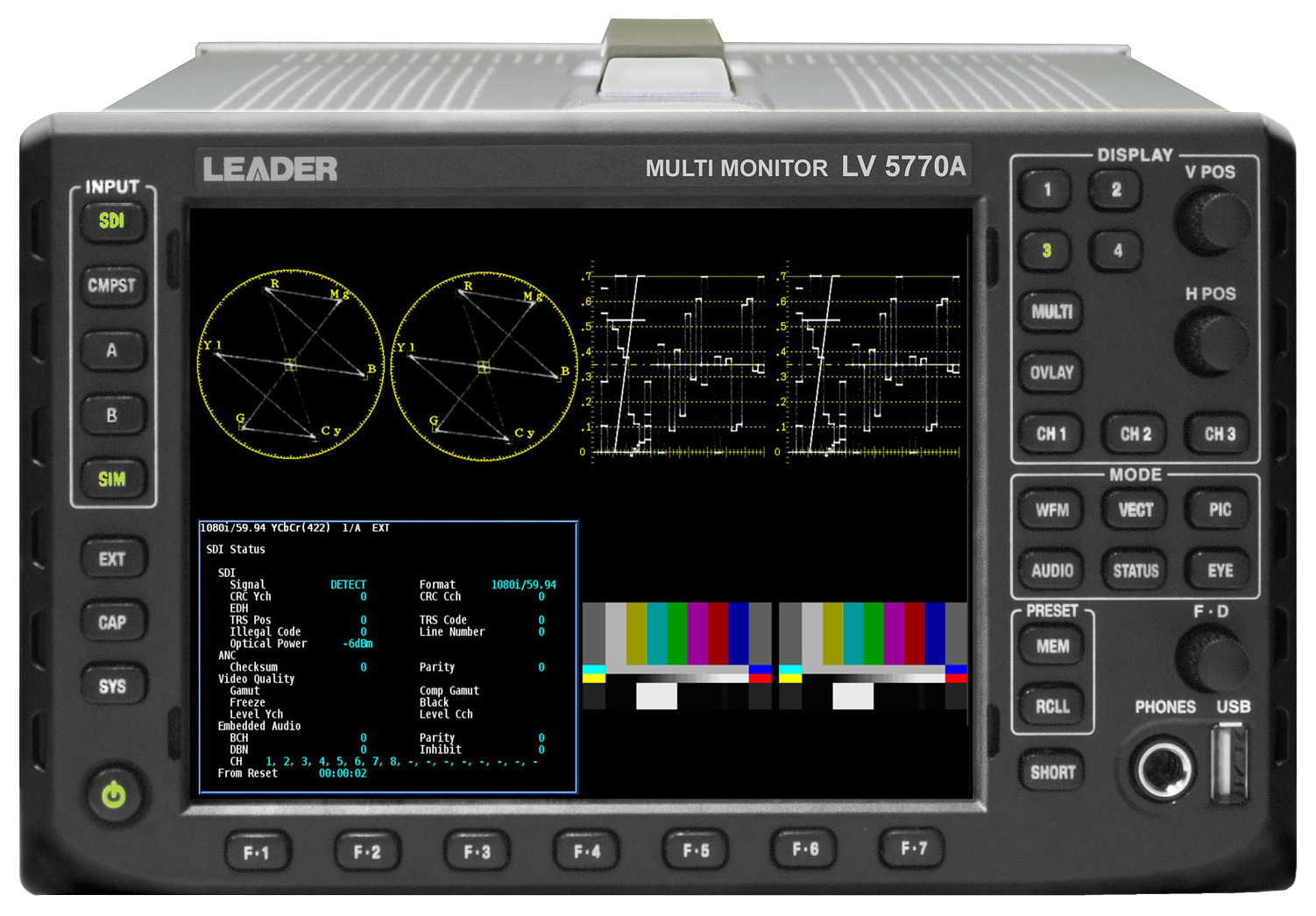 LEADER  LV5770A 3G/HD/SD-SDI WAVEFORM MONITOR  - Image #1