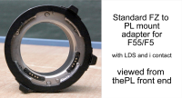 FZ to PL mount adapter for F55/F5 with LDS/i contacts - Image #2