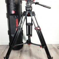 Speed Balance tripod head + Carbon legs , quick-lock, mid-spreader and hard case