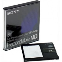 MiniDisc for professional use Recordable MiniDiscs for digital audio (74 minutes).