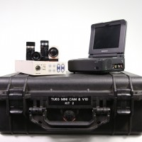 Complete minicam kit with camera, CCU and 3 lenses. 2mm,4mm and 8mm all working and optically clear. Comes with DSR-V10P DVCAM recorder. All in working order.