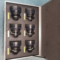 Zeiss CP2 set of 6 lenses (18,25,28,35,50,85 mm) Interchangeable Mount