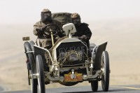 The oldest car in the rally (1903) Entering the Gobi Desert in China en route to Erenho