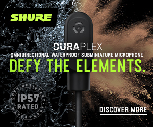 DuraPlex Omnidirectional Waterproof Subminiature Microphone