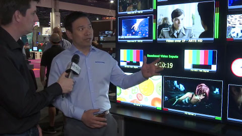 APANTAC IP and SDI Multiviewer at NAB 2015