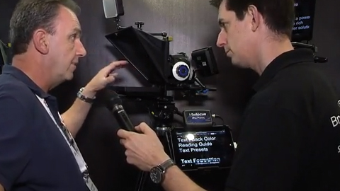 Autocue DSLR Prompter using iPad at IBC 2013