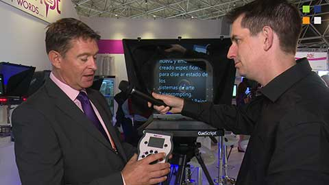CueScript EMC prompter and control surface at IBC 2014