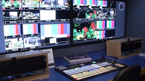 Gearhouse Broadcast HD OB trailer at IBC 2013
