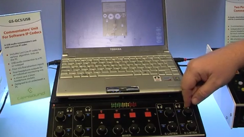 Glensound with the USB Commentary Mixer at IBC 2013