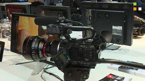 JVC GY-LS300 prototype at IBC 2014