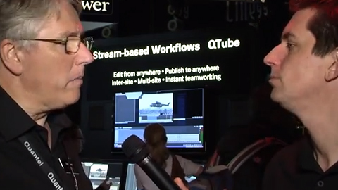 Quantels Stream-based Workflows at IBC 2013