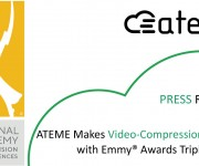 ATEME Makes Video-Compression History with Emmy and reg; Awards Triple Crown