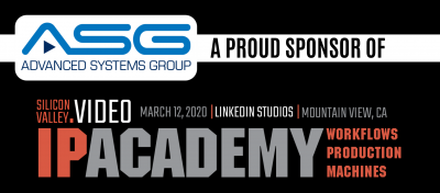 ASG Serves as Founding Member of Silicon Valley Video, Inaugural March 12 Event Will Tour LinkedIn Studios