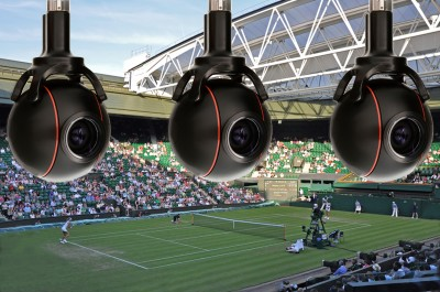 Camera Corps Q-Ball remote heads capture the commentaries at Wimbledon
