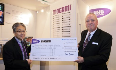 HHB and Mogami donate 5,000 pounds to the Red Cross Japan Tsunami Appeal