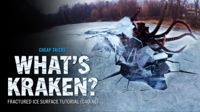 New Red Giant Cheap Tricks Tutorial Shows off Cinema 4D and Adobe After Effects for Fractured Ice Surface VFX Shot