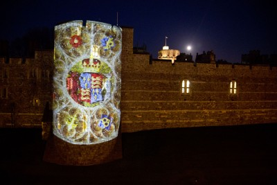 Projecting Christmas at Windsor Castle