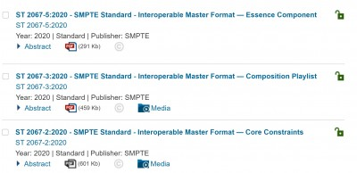 SMPTE Releases Revisions to IMF Standards Documents