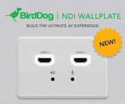BirdDog Announces NDI and reg; Wallplates