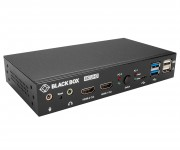 Black Box 4K Desktop KVM Switch Provides Control of Two Computers With Mixed HDMI and DisplayPort Video Inputs