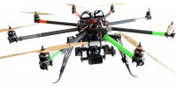 Boxx TV to demonstrate a new lightweight Zenith transmitter on a remote controlled helicopter for airborne filming in HD