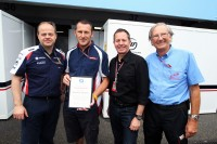 Cameraman Dave Stanford presented with Honorary Membership of the GTC