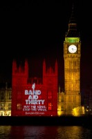 Historic BandAid30 Projections onto British Parliament is a First