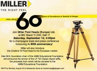 Miller Fluid Heads (Europe) Ltd. to Host Charitable Raffle Event at IBC 2014