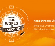 nanocosmos Improves Ultra-Low-Latency Live Streaming Experience With New nanoStream Cloud Service Features