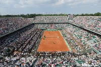 RTS serves an ace at the French Open in Paris