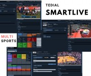 Tedial Tackles Sports Production with SMARTLIVE Multi Sport Configurations, and Media Content Distribution with Version Factory Upgrades at NAB New York 2019