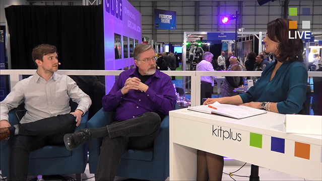 Larry Jordan with Thom Holliday talk streaming at BVE 2016